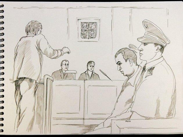 Soudní proces. Ten zachytil kreslíř Pavel Trnka v nejmenších detailech. Do svých kreseb se snažil vložit také emoce, které na něj během soudního líčení velmi působily.
