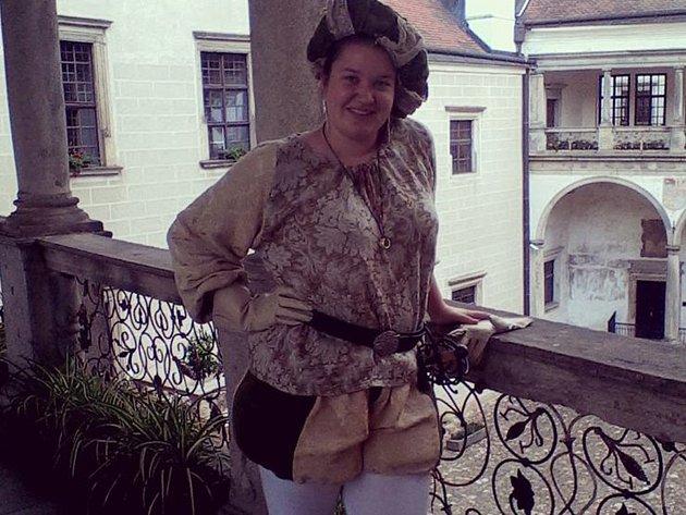 Průvodkyně Lucie Čechová se letos chystá účastnit také nočních kostýmových prohlídek.