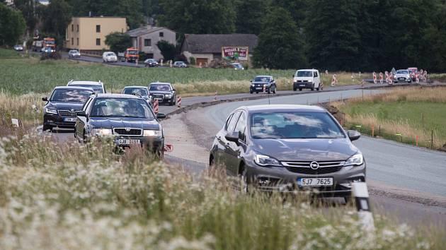Modernizace silnice II/602 hranice kraje - Pelhřimov.
