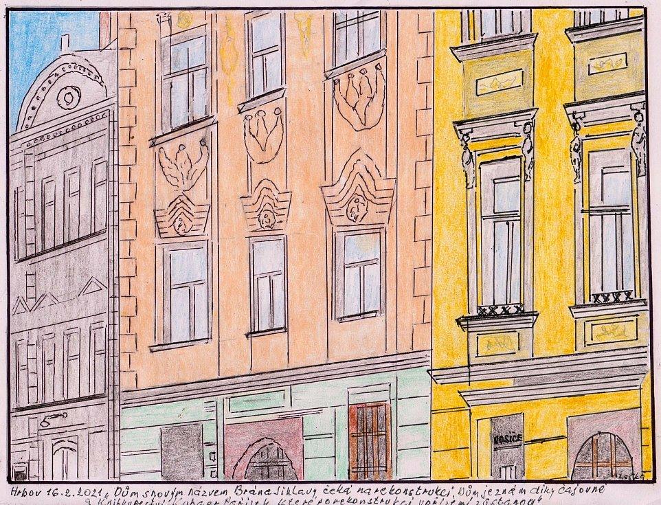 Josef Laška nejradši maluje krajiny a stavby, které ho zajímají.
