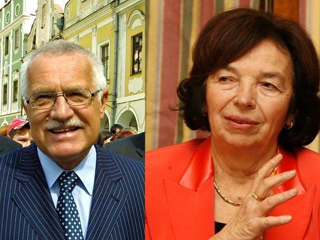 Prezidentský pár Václav a Livie Klausovi.