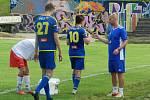 Michal Veselý (vpravo) se už do přípravy dorostenců FKM Vysočina Jihlava zapojil.