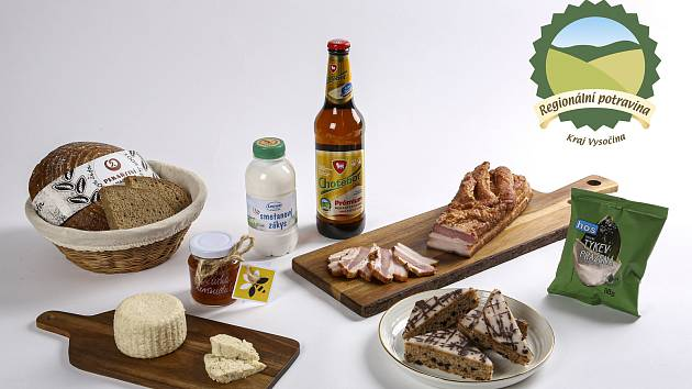 Kompozice potrvin, které se nově mohou pyšnit logem regionální potraviny.