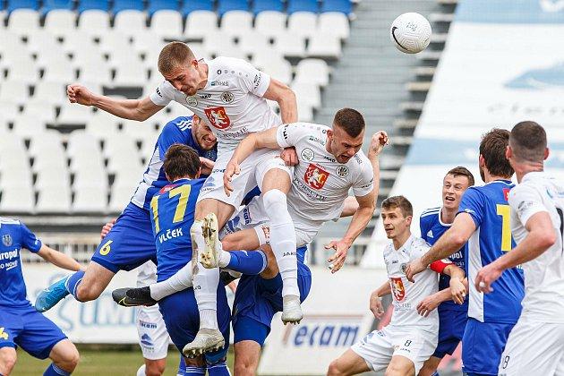 Fotbalové utkání Hradec Králové - Vysočina Jihlava