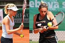 Jihlavské tenistky Iveta Gerlová (vlevo) a Lucie Kriegsmannová mají za sebou vydařený turnaj. Gerlová vyhrála dvouhru bez ztráty setu, Kriegsmannová se probojovala do čtvrtfinále. Obě potom opanovaly čtyřhru.