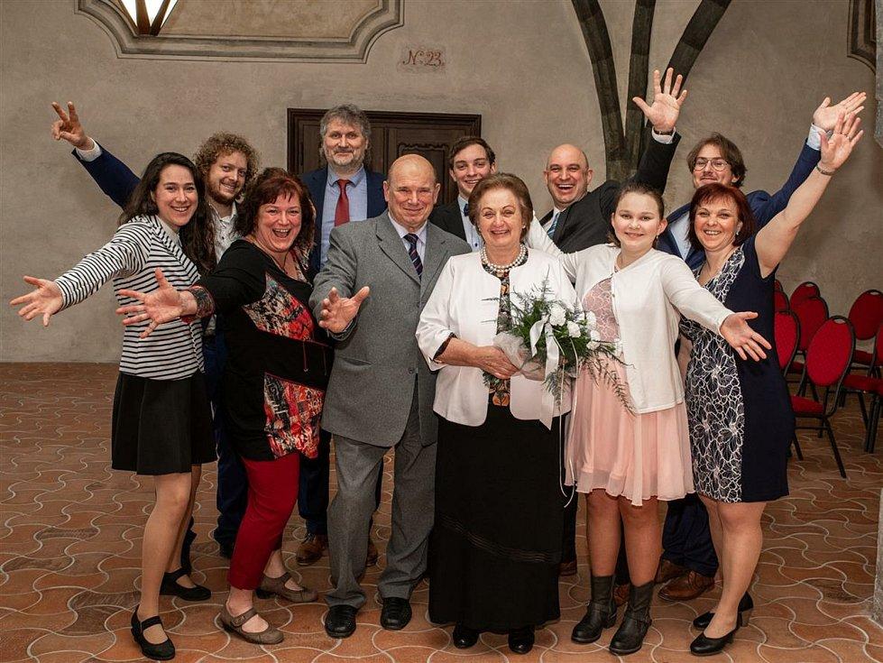František a Eva Medunovi oslavili zlatou svatbu.