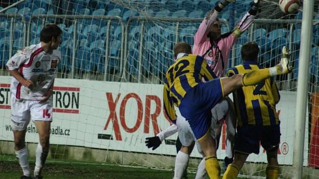 Jihlavský brankář Libor Macháček hrál v Opavě svůj poslední zápas v profesionální kariéře. Vysočina z něj ovšem vyšla bodově naprázdno.