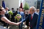 Návštěva prezidenta republiky Miloše Zemana v Jihlavě.