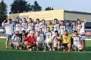 Finále krajského fotbalového poháru Ježek Cup 2018 mezi týmy Velkého Beranova a Rápotic.