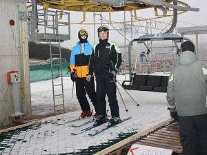 Skiareál v Lukách nad Jihlavou, ilustrační foto.