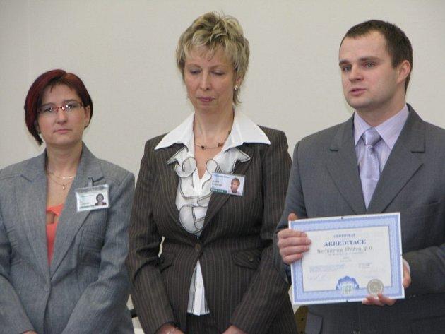 Slavnostní předání certifikátu o akreditaci jihlavské nemocnice