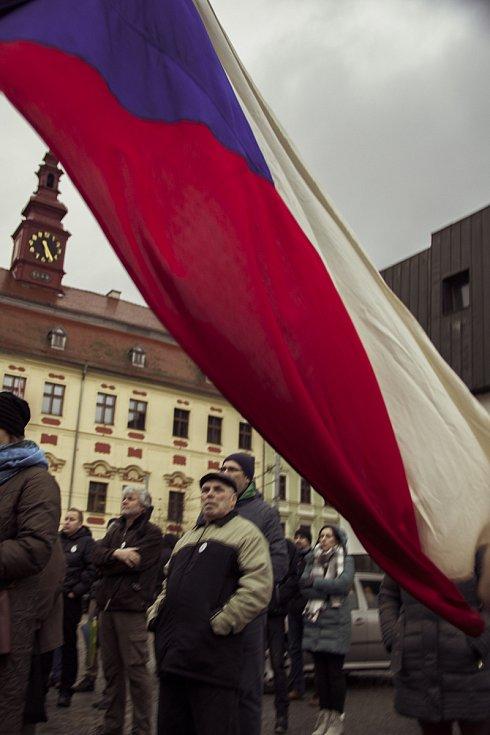 Akce na Masarykově náměstí v Jihlavě.