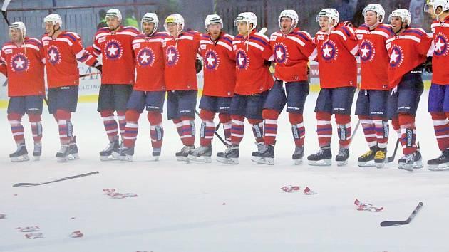 Hokejisté Třebíče zvládli poslední zápas v Ústí nad Labem a v tabulce poskočili na 3. místo.