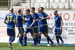 Utkání 25. kola FNL mezi FC Vysočina Jihlava a FK Fotbal Třinec.