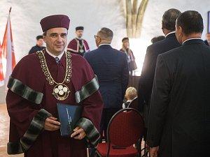 Inaugurace rektora VŠPJ – profesora Václava Báči.
