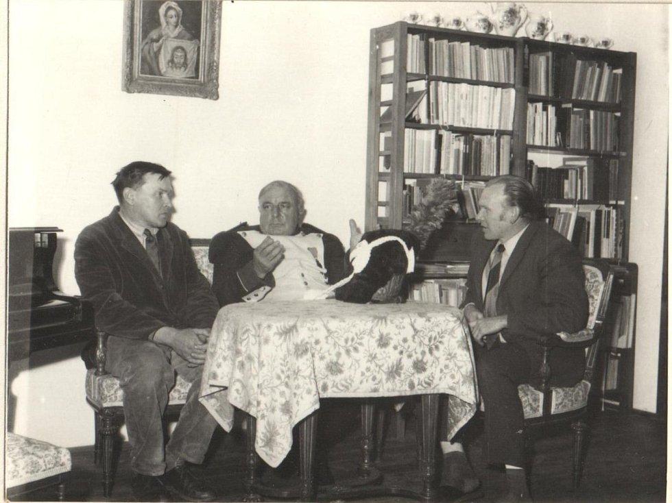 Setkání ve Staré Říši. Gabriel Florian, Norbert Brassine a Jan Florian.