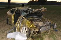 Takto dopadl citroën, který v září 2007 u Dobronína na Jihlavsku  řídil Jiří Hanko s 1,7 promile alkoholu v krvi. V soudní síni obžalovaný projevil nad svými činy lítost.