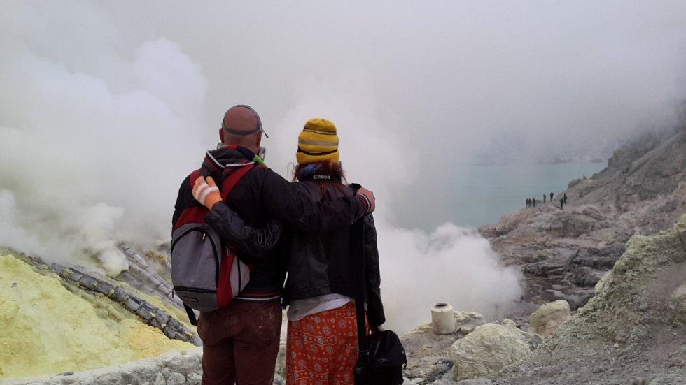 Nejkyselejší jezero na světě na indonéském ostrově Jáva.