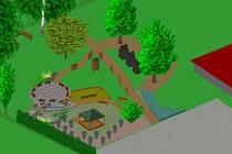 Vizualizace plánované environmentální zahrady, která má vzniknout v Brtnici.