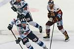 Zápas 24. kola hokejové extraligy mezi týmy HC Dukla Jihlava a Bílí Tygři Liberec.
