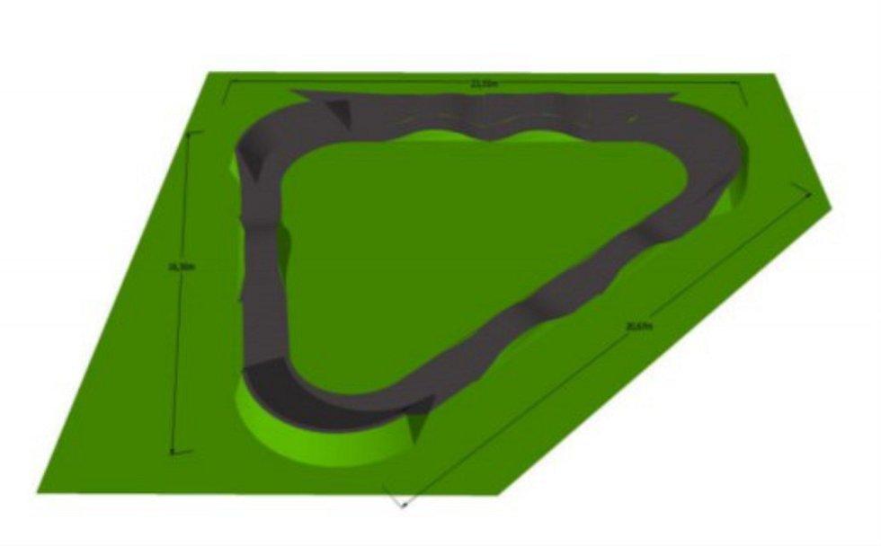 Jihlava uvedla podrobnosti o chystaném pumptracku včetně vizualizace v žádosti o dotaci adresovanou na hejtmanství.