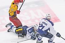 Jihlavští hokejisté byli blízko konci sezony, ale dokázali otočit utkání s Kladnem. O tom, kdo postoupí do semifinále, rozhodne středeční sedmý duel.