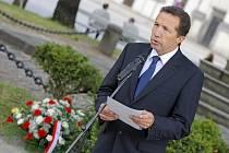 Jihlavský primátor Jaroslav Vymazal ve čtvrtek odpoledne vzpomněl na Evžena Plocka a okupaci.