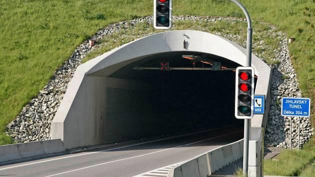 Uzavírka jihlavského tunelu.