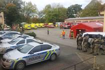 Taktického cvičení se zúčastnili všechny složky záchranného systému.