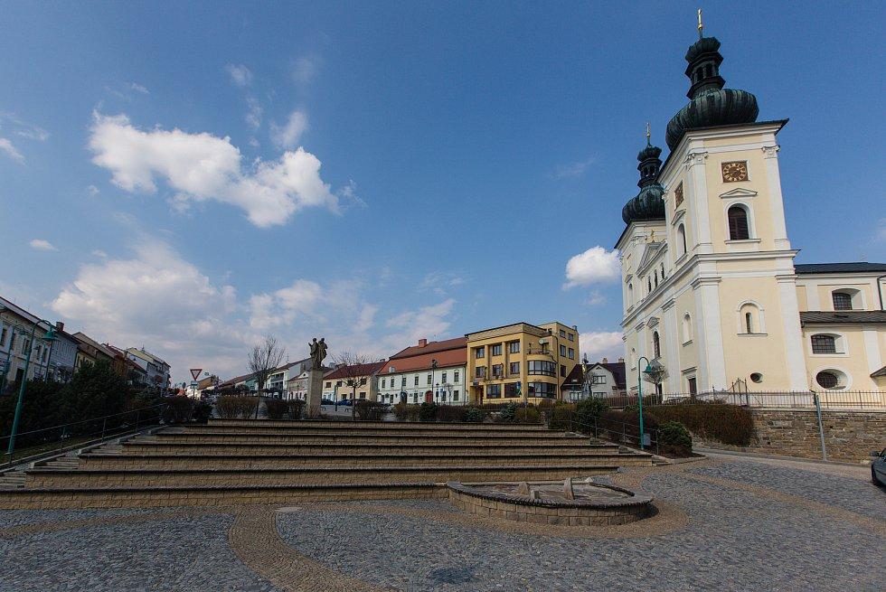 Masarykovo náměstí v Bystřici nad Pernštejnem.