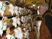 Návštěvníci výstavy mohli obdivovat především trofeje srnčí zvěře.
