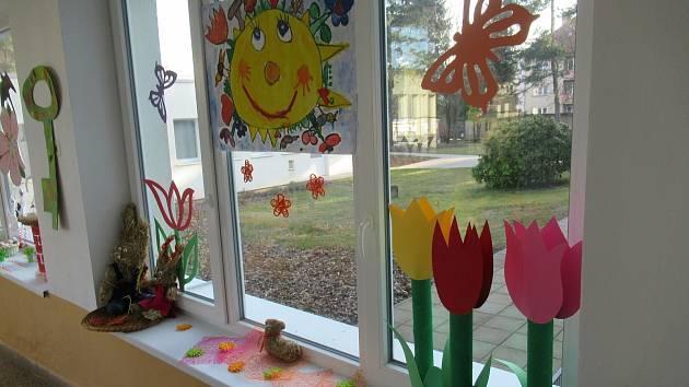Výzdoba v třešťské mateřské škole v Luční ulici.