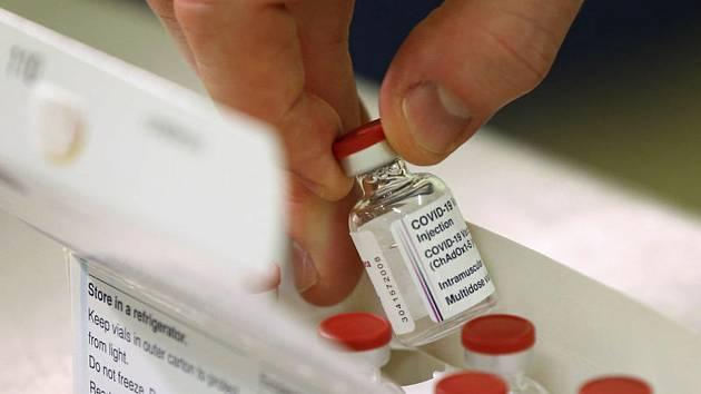 Očkovací vakcína AstraZeneca. Ilustrační foto