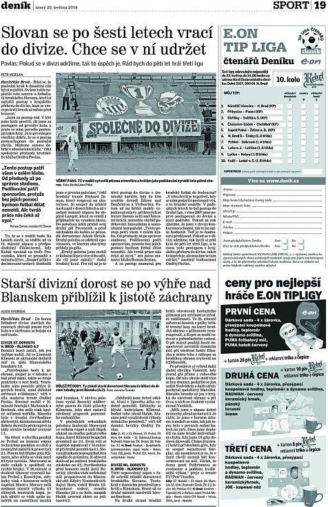 Havlíčkův Brod slavil postup do divize v rekordním čase.