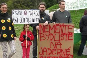 Protesty proti úložišti na Vysočině.