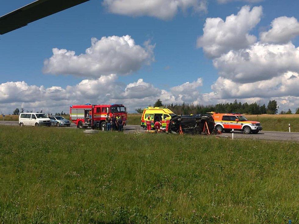 Zraněný musel být letecky přepravený do brněnského traumacentra.