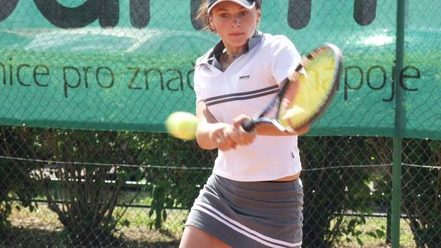 Nadějná jihlavská tenistka Lucie Kriegsmannová.