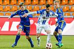 Utkání 17. kola FNL mezi FC Vysočina Jihlava a 1. SC Znojmo.