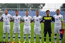 Martin Šimko (vpravo) jako kapitán slovenské reprezentace do 17 let.
