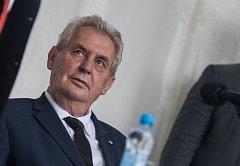První den návštěvy prezidenta republiky v Kraji Vysočina. Setkání s občany Třeště