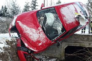 Nehoda u Heraltic na Třebíčsku.
