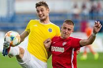 Fotbalové utkání F:NL mezi FC Vysočina Jihlava a MFK Chrudim. Ilustrační foto.