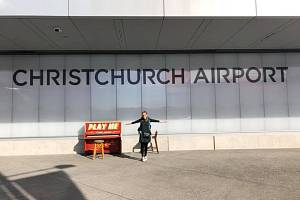 Beáta Dvořáková v Christchurch.