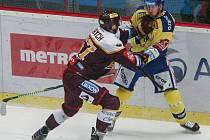 Zápas 31. kola hokejové extraligy mezi HC Dukla Jihlava a Aukro Berani Zlín, 20. prosince v Jihlavě.
