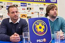 Tisková konference s novým hlavním trenérem FC Vysočina Martinem Svědíkem.