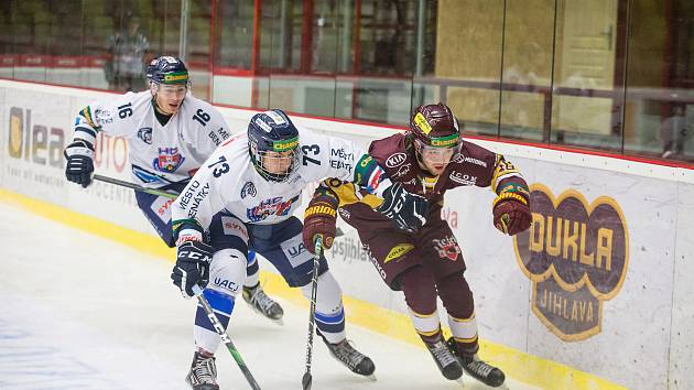 Hokejový zápas 19. kola hokejové Chance ligy mezi HC Dukla Jihlava a HC Benátky nad Jizerou.