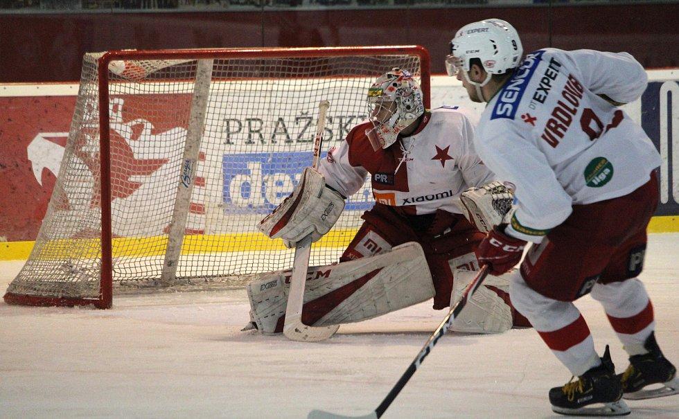 2. zápas předkola play-off Chance ligy, Slavia Praha - HS Třebíč