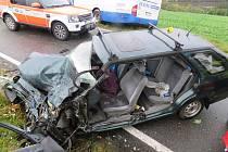 Srážka u Brtnice si vyžádala těžké zranění řidičky osobního auta.