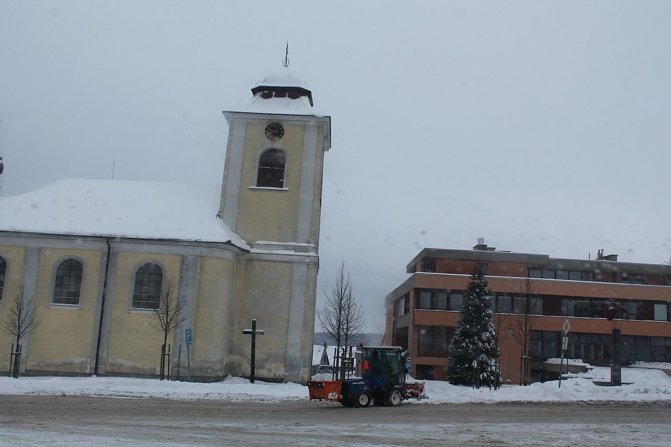 Zima bývá ve Větrném Jeníkově velmi chladná.