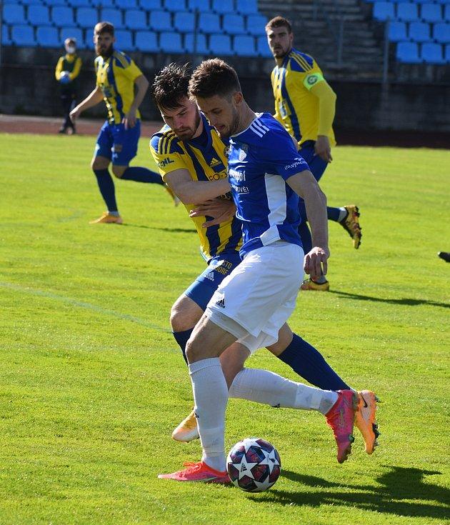 Utkání 22. kola FORTUNA:NÁRODNÍ LIGY mezi FK Varnsdorf a FC Vysočina Jihlava.